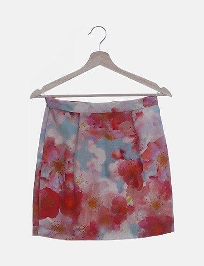 Falda floral tubo