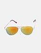 Gafas aviador cristal amarillo Stradivarius