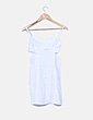 Vestido troquelado blanco con aberturas Adolfo Dominguez