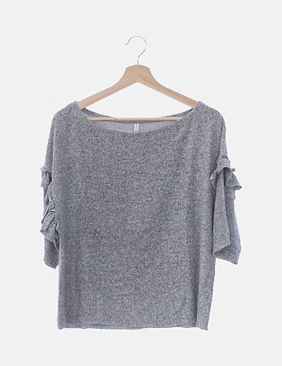 Camiseta tricot con volantes