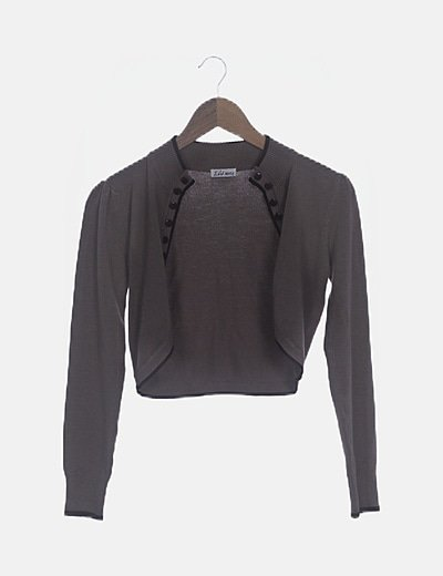 Torera tricot marrón