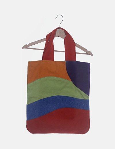 Bolso patchwork multicolor