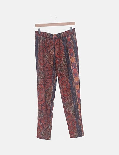 Pantalón baggy print multicolor