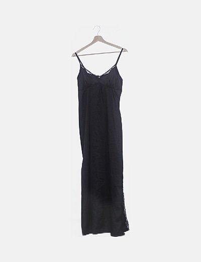 Vestido pijama lencero negro