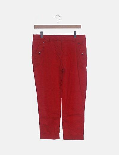 Pantalón pirata rojo