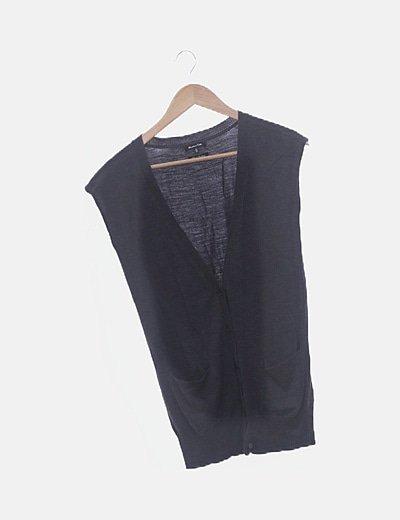 Chaleco gris tricot
