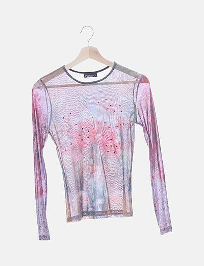 Camiseta gasa con strass