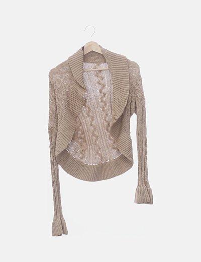 Chaqueta tricot beige