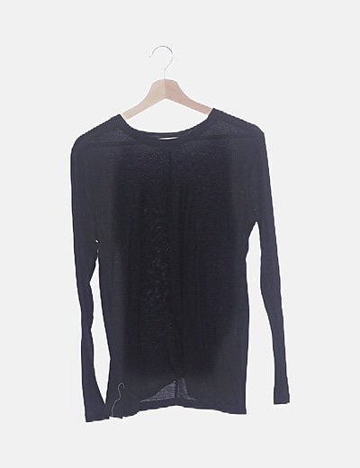 Camiseta negra lisa