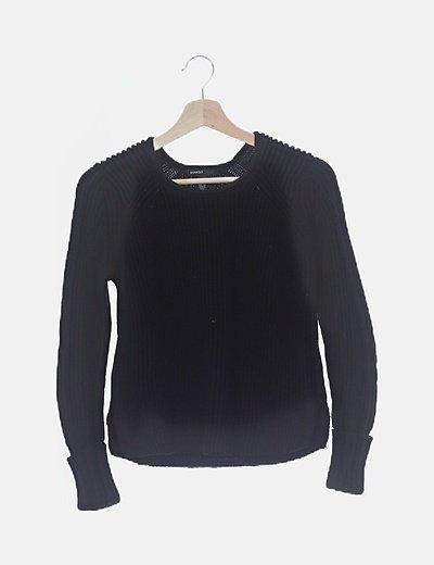 Jersey punto negro básico