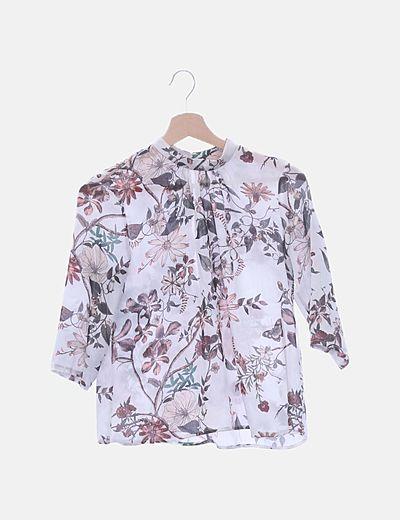 Blusa de gasa print floral