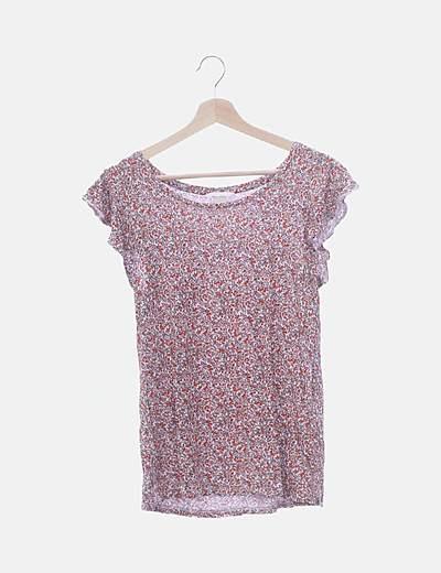 Camiseta estampado floral manga corta