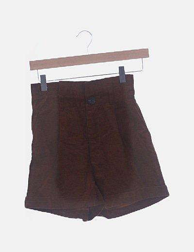 Short de pana marrón