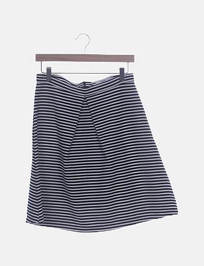 Falda texturizada rayas