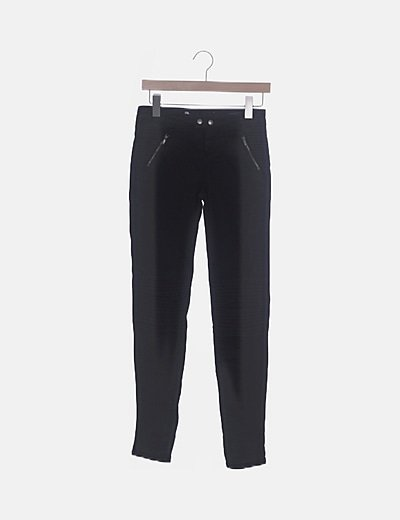 Jeans negro combinado
