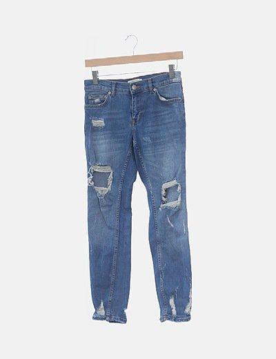 Jeans denim girlfriend ripped