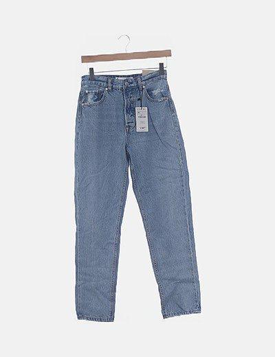 Jeans denim mon fit azul claro
