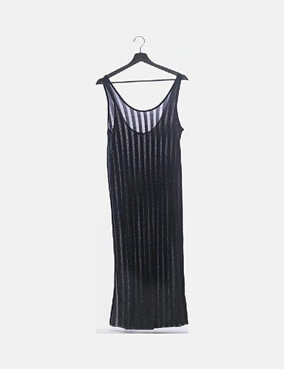 Vestido gris tirantes