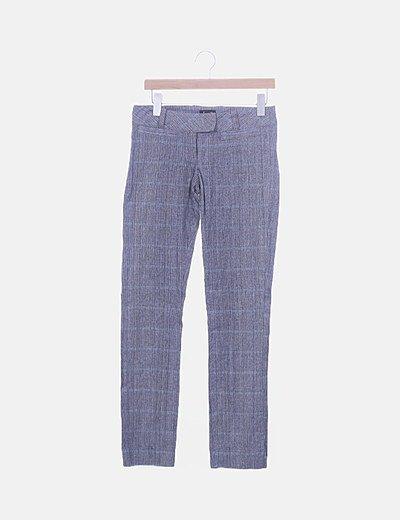 Pantalón chino rayas combinadas negras