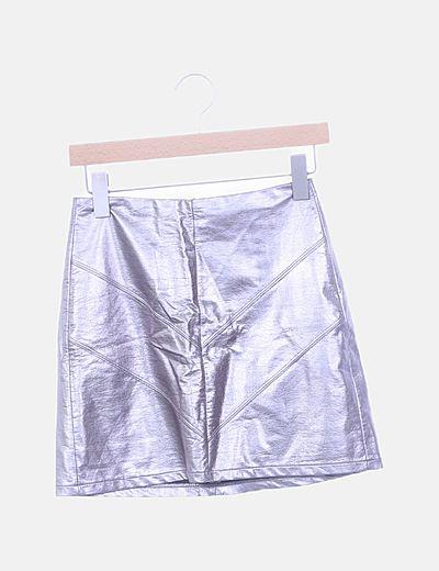 Falda tubo metalizada