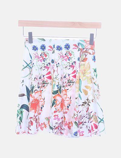 Falda tablas print floral