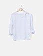 Camiseta blanca con abalorios Stradivarius