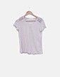 Camiseta gris de manga corta Zara