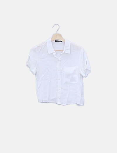 Camisa banca de manga corta