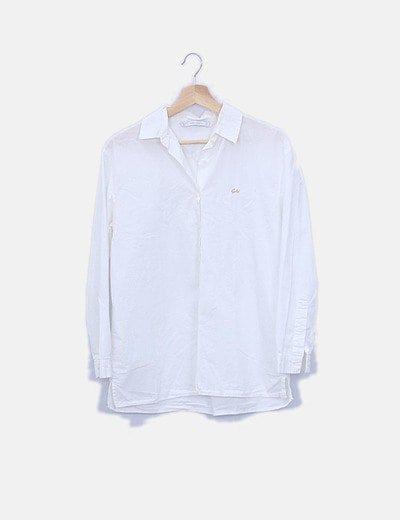 Camisa blanca mensaje glitter