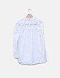 Camisa blanca mensaje glitter Zara