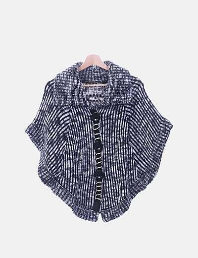 Chaqueta tricot gris jaspeada