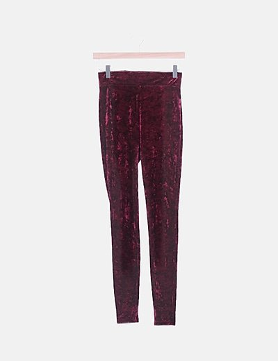 Legging velvet granate