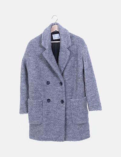Abrigo rizo gris