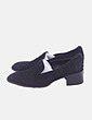 Zapato de tacón negro detalle bolas Tod`s