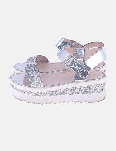 Sandalias plataforma glitter