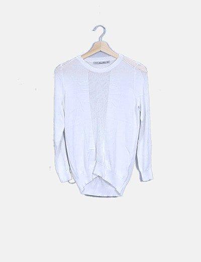 Jersey blanco con calados