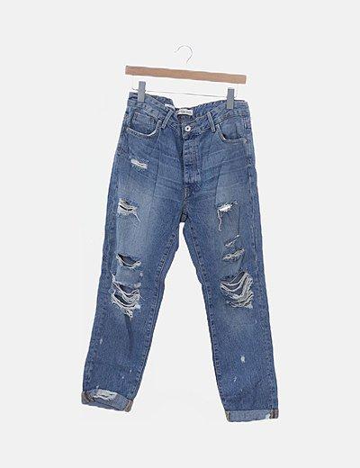 Jeans slim boyfriend ripped