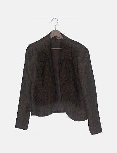 Conjunto falda y chaqueta kaki