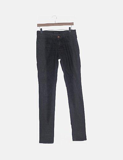 Pantalón denim gris pitillo