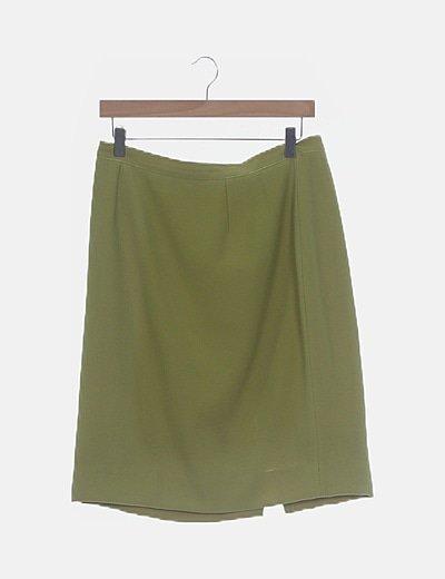 Conjunto falda y chaqueta verde pistacho