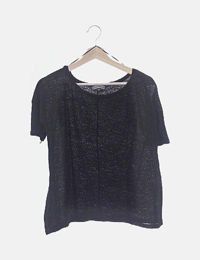 Camiseta negra tricot