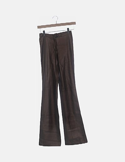 Pantalón marrón encerado