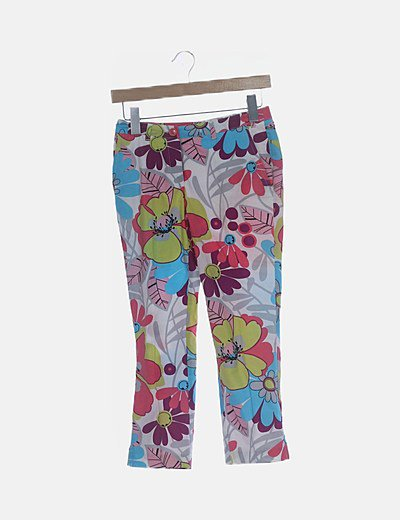 Pantalón estampado multicolor