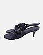 Sandalia negra de tiras enceradas Lady Stork
