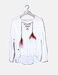 Blusa blanca lace up multicolor Bató Petó