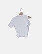 Camiseta canalé blanca con aberturas Zara