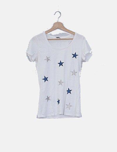 Camiseta blanca print estrellas