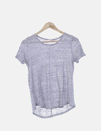 Camiseta básica gris jaspeada