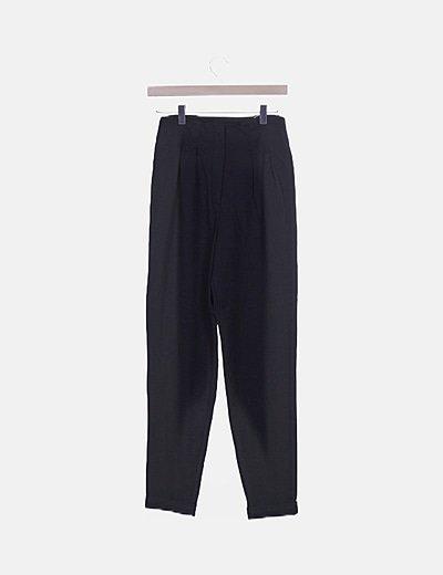 Pantalón chino high waist negro