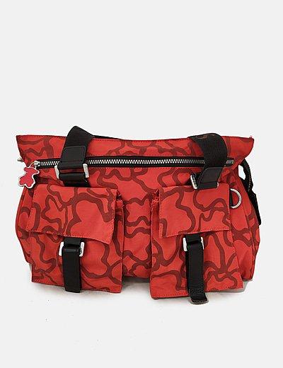 Bolso de hombro rojo